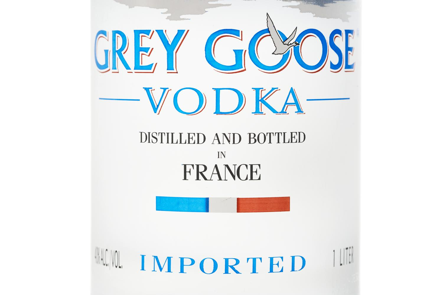 Grey Goose Vodka Label Grey Goose Label - Alc...
